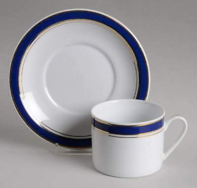 Crown Porcelain PRESTIGE BLUE Cup & Saucer 2188112