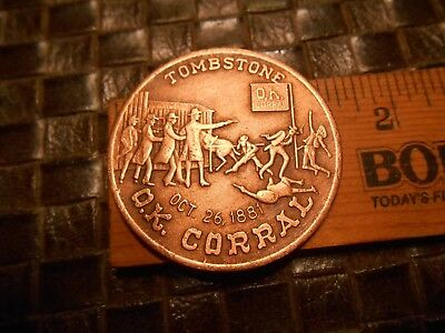 TOMBSTONE OK Corral Saturday Night In Tombstone Coin Token