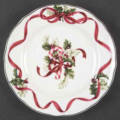 Charter Club WINTER GARLAND Candy Cane Accent Luncheon Plate 5746507