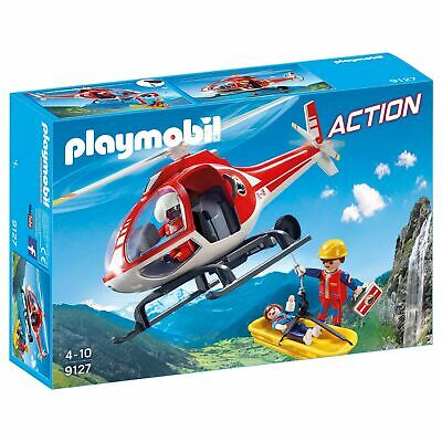 Playmobil 9127 Action Mountain Rescue Helicopter 9127