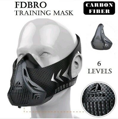 New Fitness Training Mask for Boxing MMA Runing Bodybuilding Sports CARBON FIBER