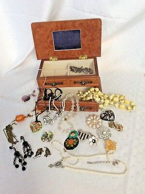 Jewellery & Watches Job Lot Costume Jewellery In Box Costume Jewellery