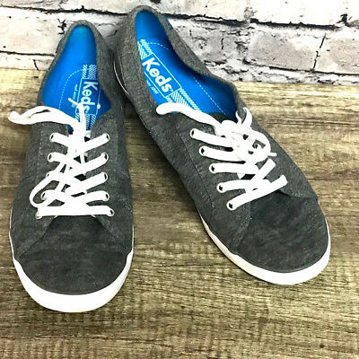 d275553a3ca Keds Women s Gray Sneakers Tennis Shoes White Lace up Size 9.5 New No Box