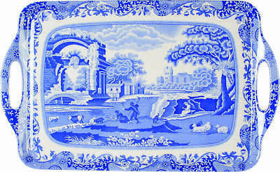 Spode BLUE ITALIAN Handled Rectangular Melamine Tray (Pimpernel) 9036001