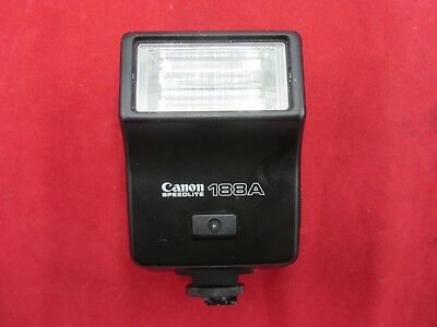 Vintage Canon Speedlite 188A Flash For Ae-1 Cameras A-1 Fd Japan Untested