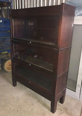 Vintage/Antique Hale Mahogany Barrister Bookcase Library 3 Stack Herkimer NY