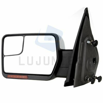 07-14 Ford F150 Power Chrome Towing Heated Puddle LED Signal Driver Side Mirror