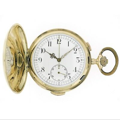 INVICTA Quarter Repeater & Chronograph 14K Gold Repetition Pocket Watch, 1890s