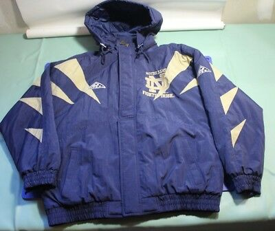 Vintage Original Apex one Notre Dame Fighting Irish Puffer Jacket  Men's Large