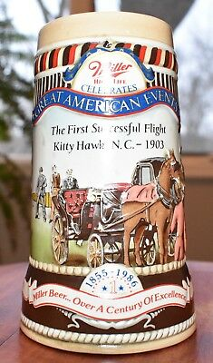 Miller High Life Great American Events 1986 Kitty Hawk First Flight Beer Stein