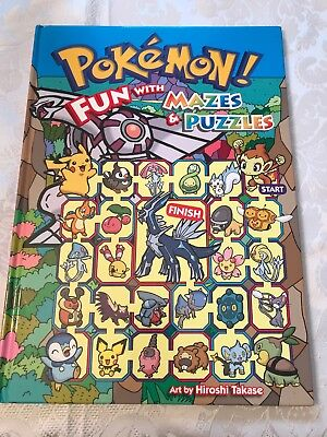Pokemon! Fun with Mazes & Puzzles By Hiroshi Takase. NEW And UNUSED Collectors?