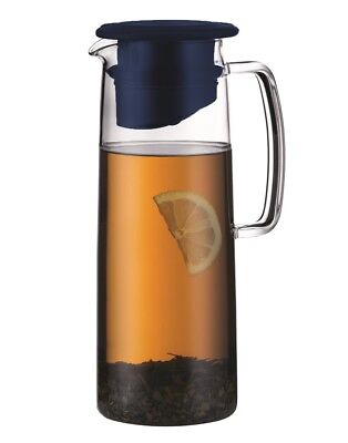 NEW Bodum Biasca Ice Green Tea Jug 1.2L Dark Blue