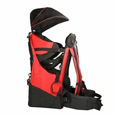 Clevr Cross Country Baby Child Backpack Hiking Carrier Red