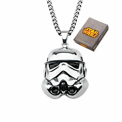 Star Wars Stormtrooper 3D Stainless Steel Pendant Necklace
