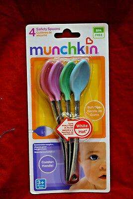 Munchkin White Hot Safety Spoons, Asst. Colors 4 ea (Pack of 2) * 8 spoons total