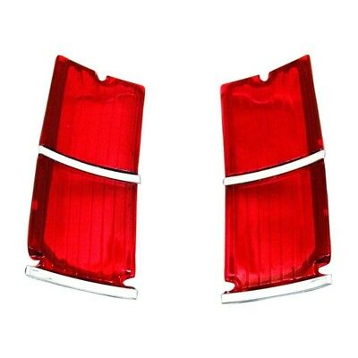 66 El Camino Tail Lamp / Light Lens - Pair