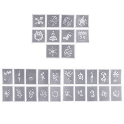 10x Body Face Painting Stencil Template Halloween Christmas Makeup Tattoo