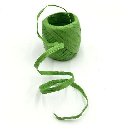 Green Paper Raffia Ribbon Decorate Flowers Gift Crafts Scrapbook Natural 20m