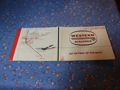 Western Airlines 1966 Ticket Mpla-StPaul to Phoenix  Jet Skyway of the West