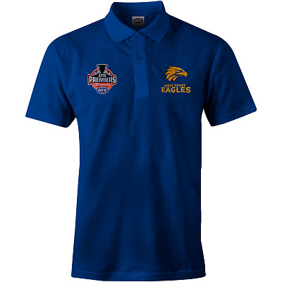 West Coast Eagles 2018 Mens Premiers Blue Polo Shirt Sizes S-3XL! P2 *In Stock*