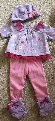American Girl Bitty Baby Doll New 4 Pc Celebration Set Top Pants Hat Booties New