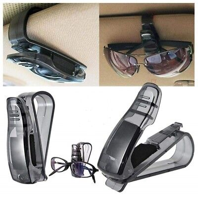 2Pcs Car Auto Sun Visor Glasses Sunglasses Card Ticket Holder Clip Universal
