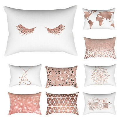 Rose Gold Pink Cushion Cover Square Pillowcase Home Decoration Home Decor