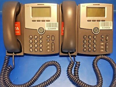 Lot of 2 Cisco SPA502G 1 line IP phone Free Express Postage Australia Wide.