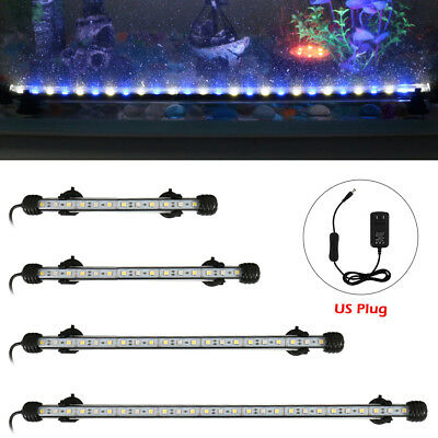 18-48cm Submersible Aquarium Light Bar Fish Tank Waterproof LED Blue+White  IP68