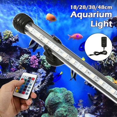 18-48CM Submersible Color Changing LED RGB Light Aquarium Fish Tank  Lamp IP68