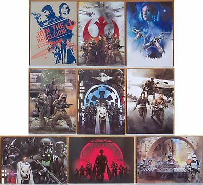 2016 Topps Star Wars Rogue One Montage 9 card insert set. Series 1
