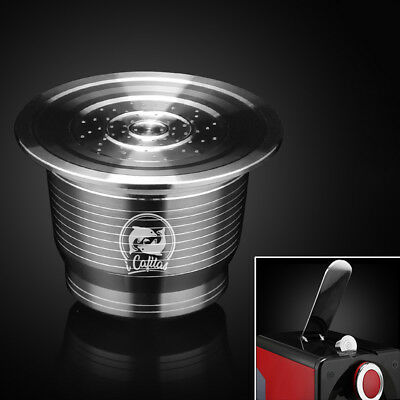 Stainless Steel Refillable Reusable Coffee Capsule Pod For Nespresso Inissia New