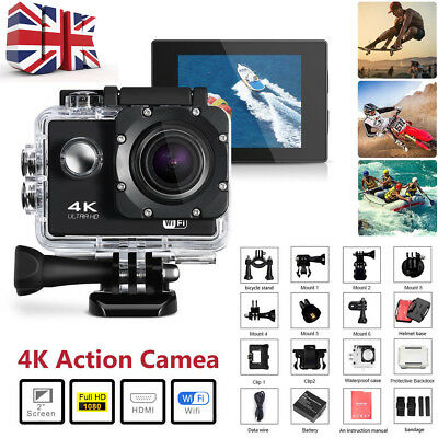 SJ9000 4K Ultra HD1080P WiF Cam Waterproof Action Sports Camera DV DVR Camcorder
