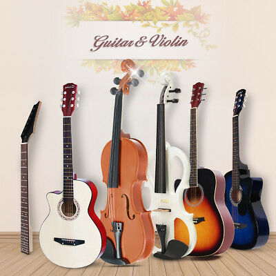 Wooden Acoustic Student Guitar Folk Multicolor 4/4 Full Size Electric Violin AU