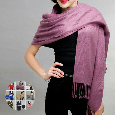 Women Cashmere Blend Long Shawl Wrap Scarf Big Wide Shawl Fall Elegant Lady NEW