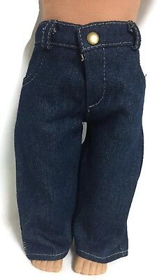 Doll Clothes for 18 inch Boy American Girl - Dark Denim Jeans Pants