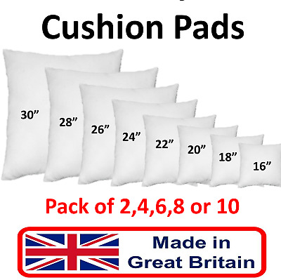 "Cushion Pads HollowFibre Inners Inserts Bounceback Pillow Fillers 12"" to 36"" New"