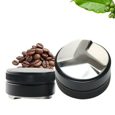 Smart Coffee Tamper 51/58mm Stainless Flat Base Adjustable Grip Handle Durable