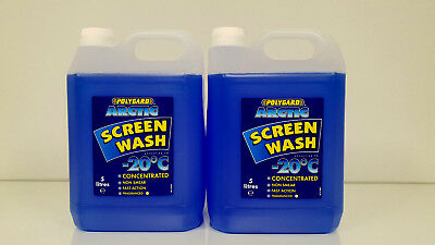 Polygard Concentrated Screen Wash for Winter / All Seasons 2X5L = 10L