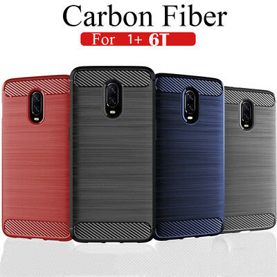 For OnePlus 6T 6 5T 5 3T 3 Shockproof Slim Soft Carbon Fiber Silicone Case Cover