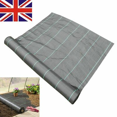 1m Wide Weed Control Ground Cover Membrane Landscape Mulch Garden 100gsm
