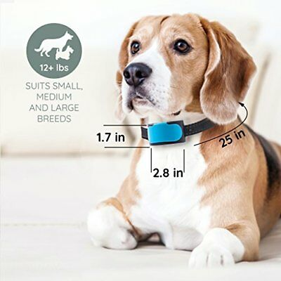 12 lb +  Dog Bark Collar by BARKLO Rechargeable Waterproof Vibration Bark SALE