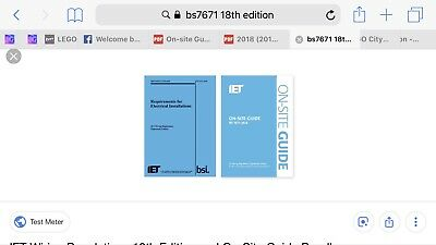 Bs7671 18th edition and On Site Guide