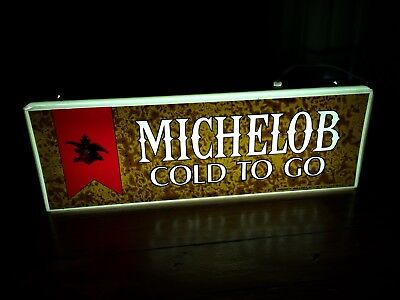 Michelob Beer Lighted Sign 1976 Bar Pub Man Cave Anheuser Busch