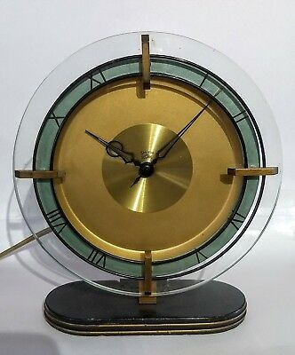 Smiths Sectric Art Deco Mantle Clock Mains Full Working Order