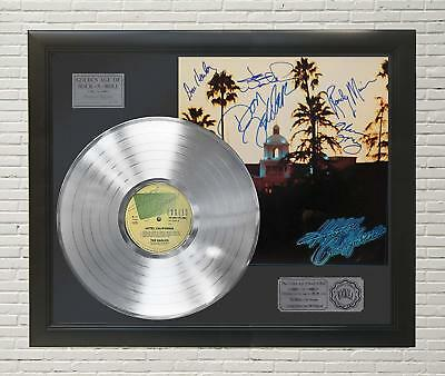 Eagles - Hotel California Framed Platinum Lp Signature Display M4