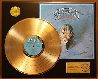 The Eagles Their Greatest 24Kt Gold LP Record LTD Edition Display