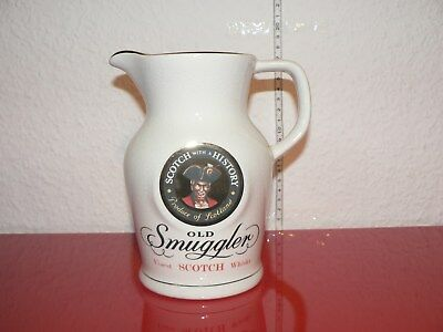 Old Smuggler Scotch Whisky Jug Whiskey  Wasserkrug Krug Eiswasserkrug