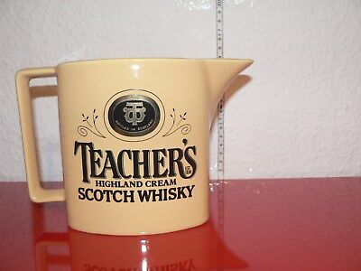 Teachers Scotch Whisky Jug Whiskey Wasserkrug Krug Eiswasserkrug Man Cave