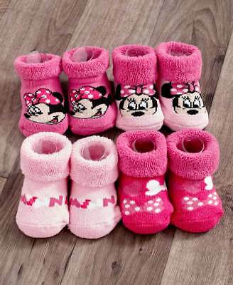 The Lakeside Collection 4 Pk. Disney Baby Socks - Minnie